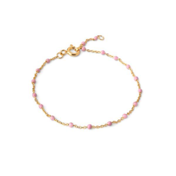 Enamel Lola armbånd - Guld/light pink