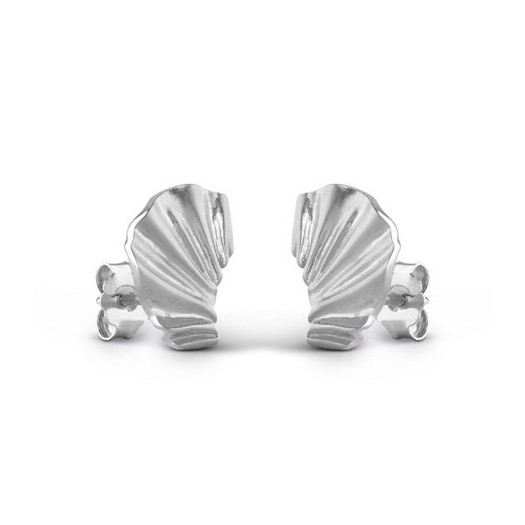 Enamel - Mini Wave ørering i sølv.