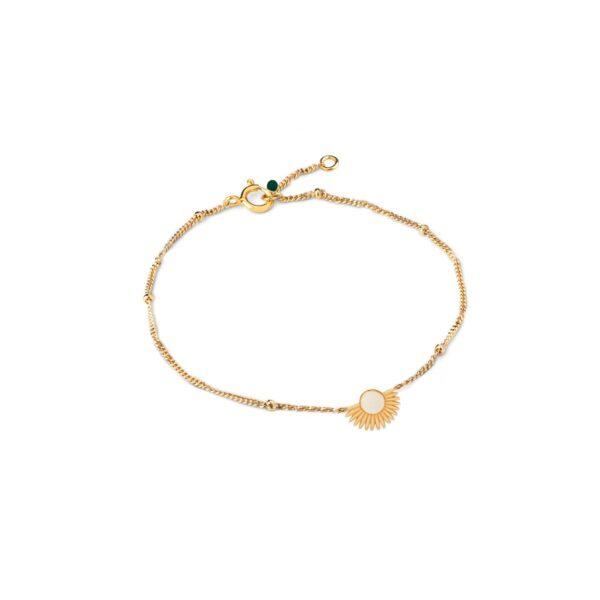 Enamel Soleil Daisy armbånd - Guld