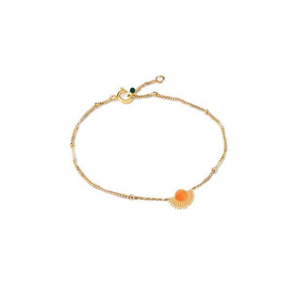 Enamel Soleil clementine armbånd - Guld