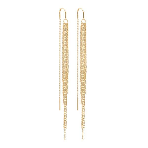 Enamel waterfall øreringe - Guld