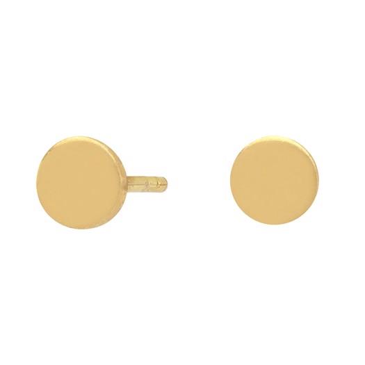 Forgyldte sølv øreringe rund - Ø5 mm**