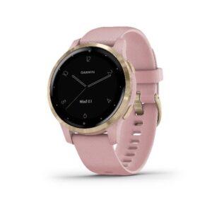 Garmin - Vivoactive 4s smart ur med støvet rosa rem