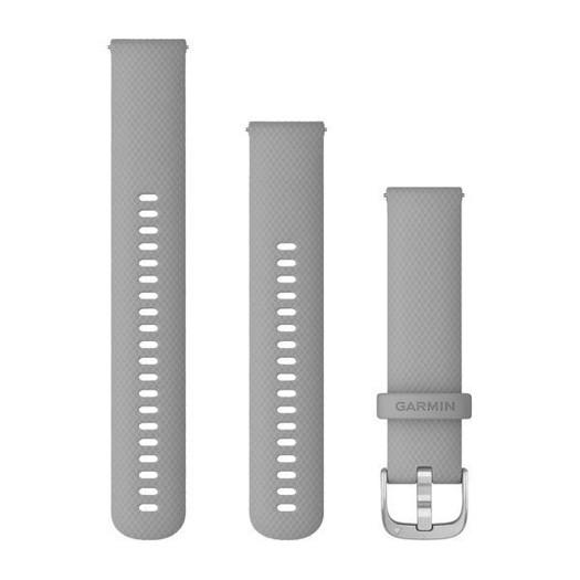 Garmin urrem - Quick release 20mm. Pulvergrå silikone