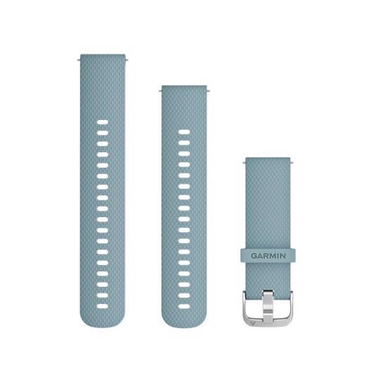 Garmin urrem - Quick release 20mm. Seaforam blå silikone