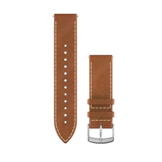 Garmin urrem - Quick release 20mm. Tan-brun italiensk læder