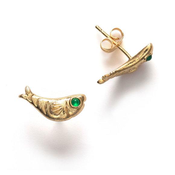 Gone Fishing Earring | Forgyldt Fra Anni Lu