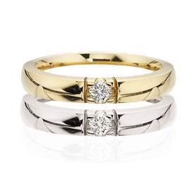 Grace Alliance ring 14 kt. 1 x 0,11 ct. W/SI