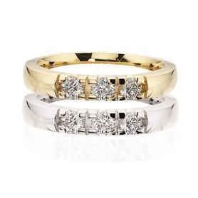 Grace Alliance ring 14 kt. 3 x 0,03 ct. W/SI