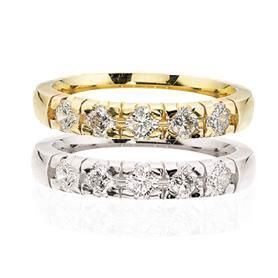 Grace Alliance ring 14 kt. 5 x 0,03 ct. W/SI