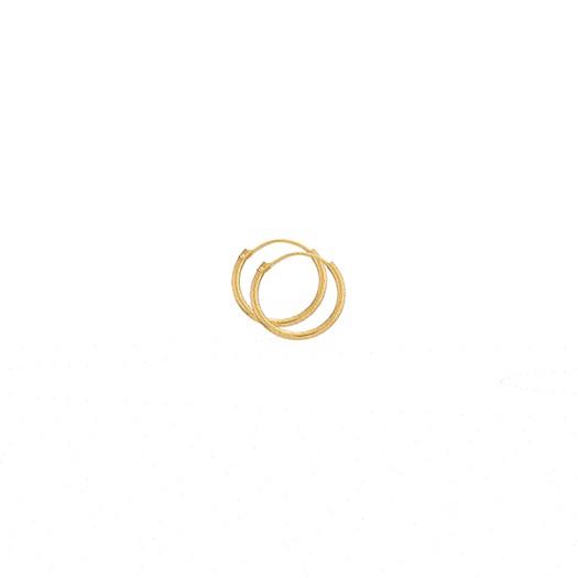 Guld Creoler Ø15 -14 kt