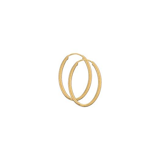 Guld Creoler - Oval 19x28 - 8 kt
