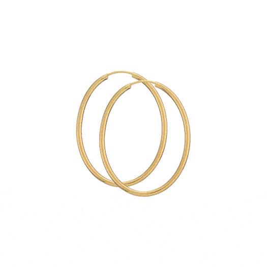 Guld Creoler - Oval 30x40 - 8 kt