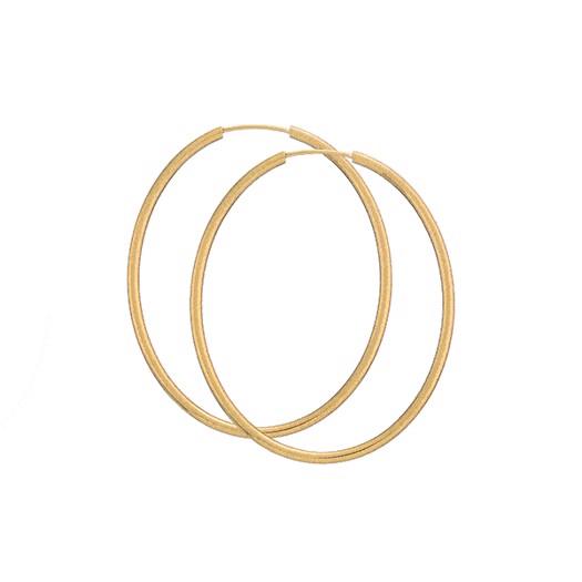 Guld Creoler - Oval 40x50 - 8 kt