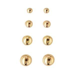 Guld kugle øreringe i 14 kt guld i Ø 4 mm