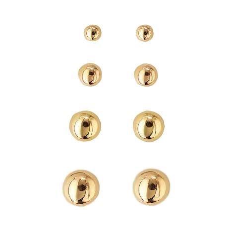 Guld kugle øreringe i 8 karat guld Ø4 mm