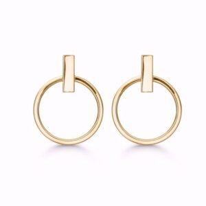 Guld og sølv design - Guld ørestik i 8kt