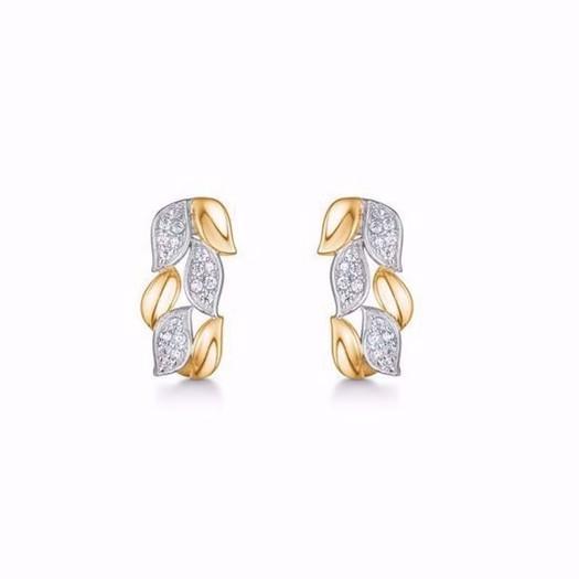 Guld og sølv design - Guld ørestik med zirkonia i 8kt