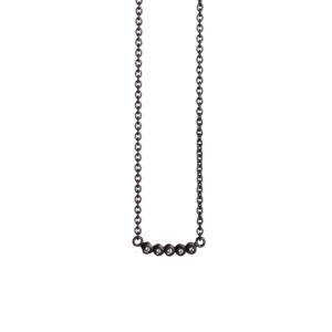 Guldsmed ø 2014 halskæde i oxyderet med diamanter