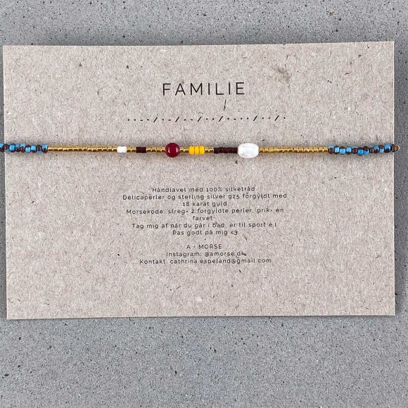 Håndlavede Armbånd   Familie Fra A Morse
