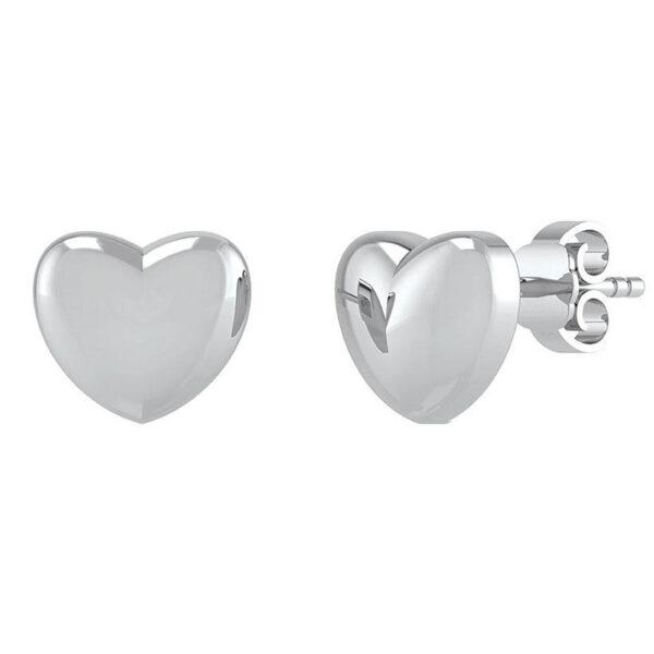 Hjerte Sterling Sølv Ørestikker fra Smykkekæden