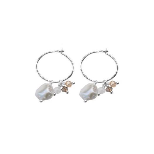 Hultquist - Creoler i sterling sølv med små perler