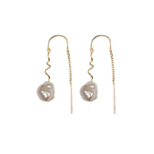 Hultquist - Dione øreringe i forgyldt sølv med perler