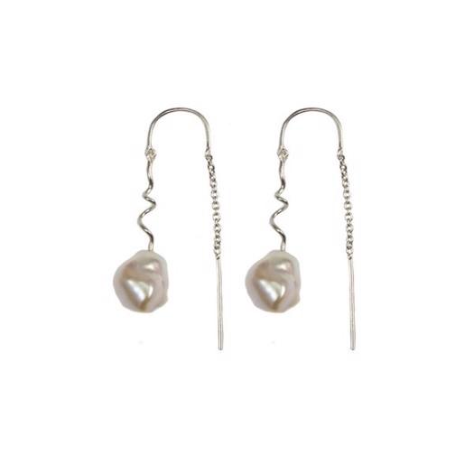 Hultquist - Dione øreringe i sølv med perler