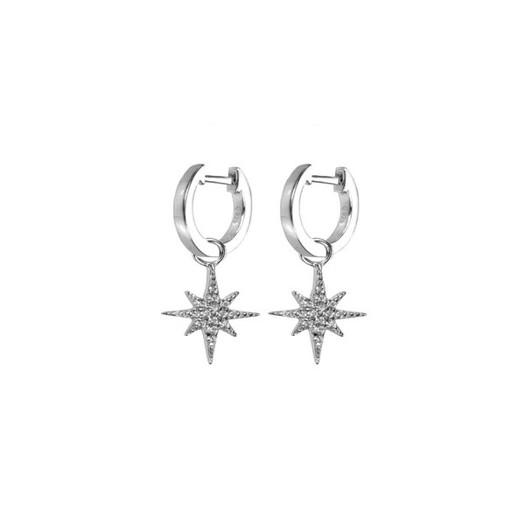Hultquist - Northern Star i sølv med zirkoner