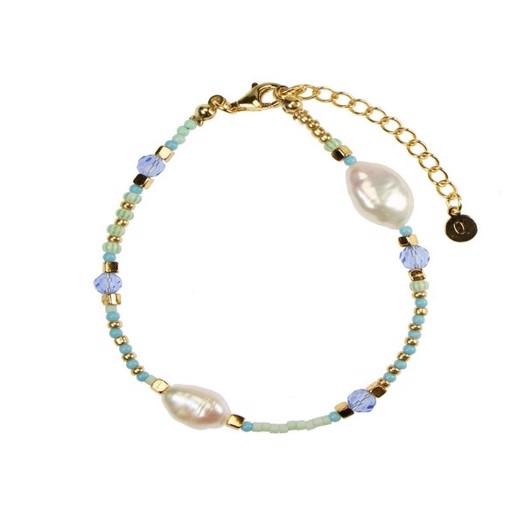 Hultquist - Ocean armbånd i forgyldt sølv med 2 perler