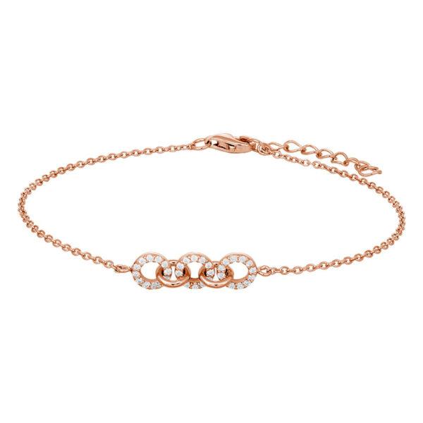 JOANLI Dina armbånd i rosaforgyldt med små cirkler
