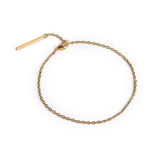 Jane Kønig - Anchor Chain armbånd i forgyldt sølv