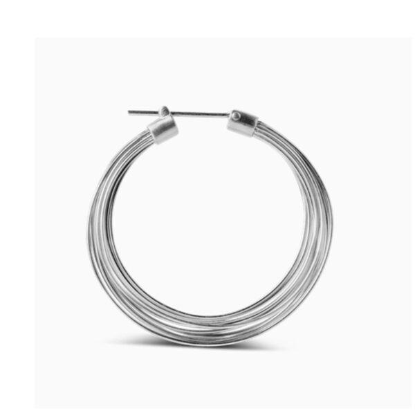 Jane Kønig Big Wire Earring Sølv 1 stk.