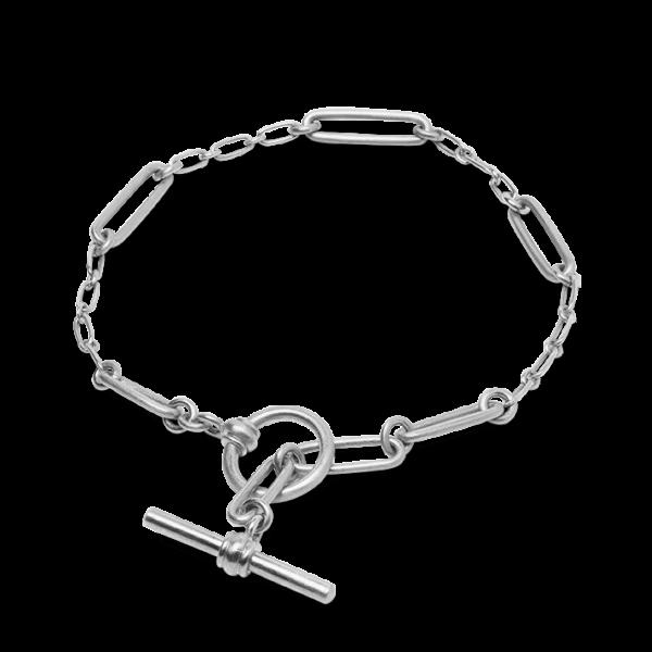 Jane Kønig Bridle bracelet Armbånd, matte sterling silver - m/17,5cm