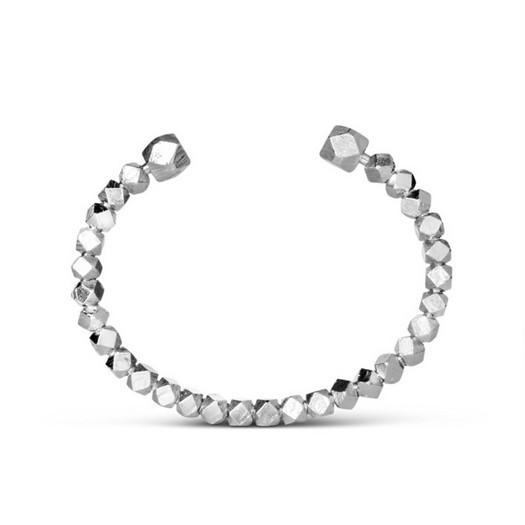 Jane Kønig - Chunky Bead armbånd i sølv**