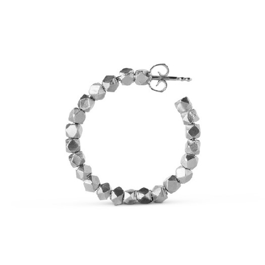 Jane Kønig - Chunky bead Creol i Mat sølv**