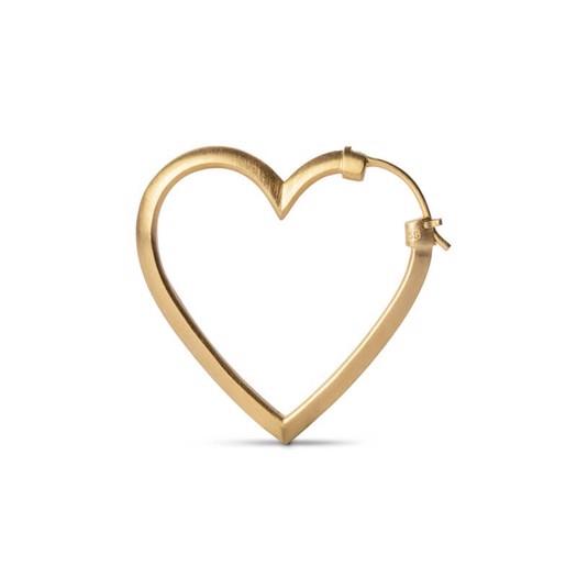 Jane Kønig - Heart Of Love øreringe i forgyldt sterlingsølv