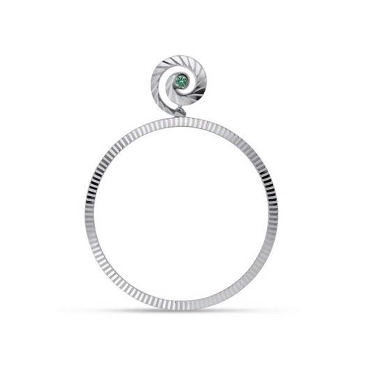 Jane Kønig - Impression Hoop i sølv