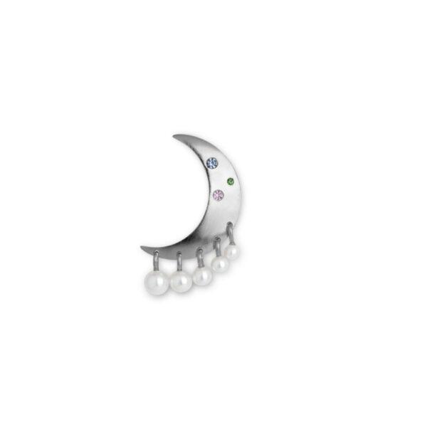 Jane Kønig Pearl Moon Ørering Sølv