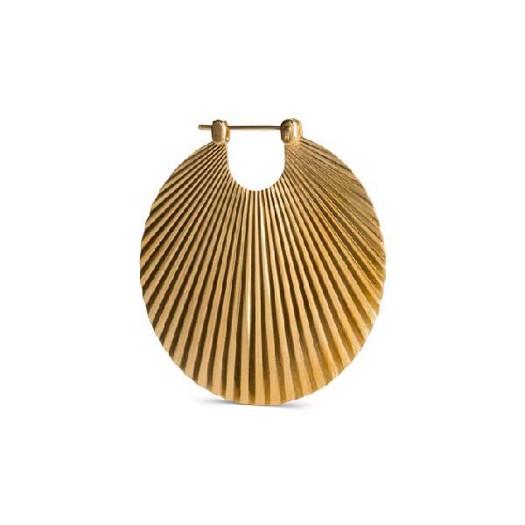 Jane Kønig - Shell øreringe i Mat Forgyldt sølv