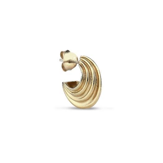 Jane Kønig - Small Sculpture Earring Forgyldt Sterlingsølv