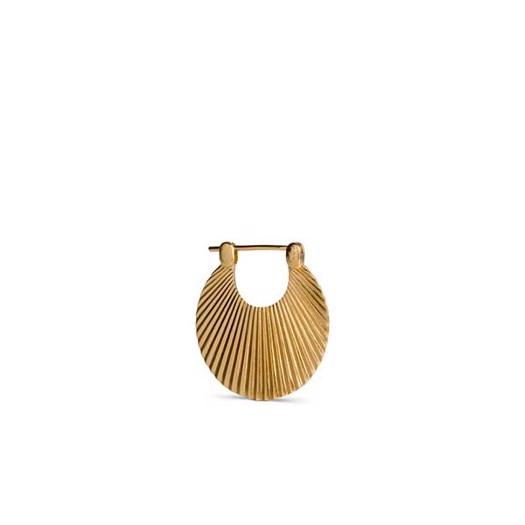 Jane Kønig - Small Shell øreringe i Mat Forgyldt sølv