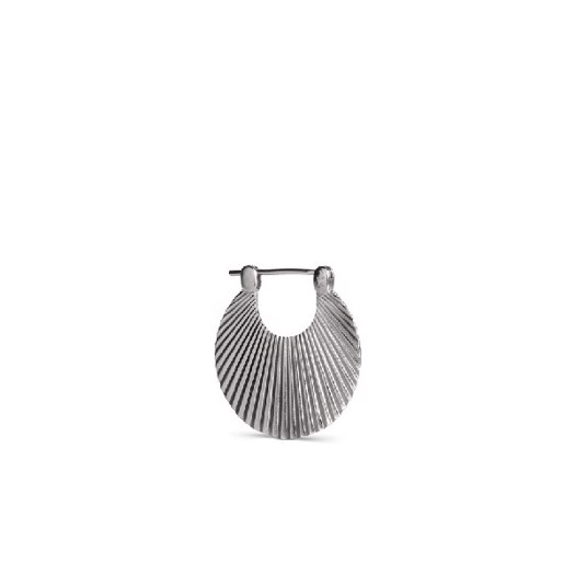 Jane Kønig - Small Shell øreringe i Mat sølv