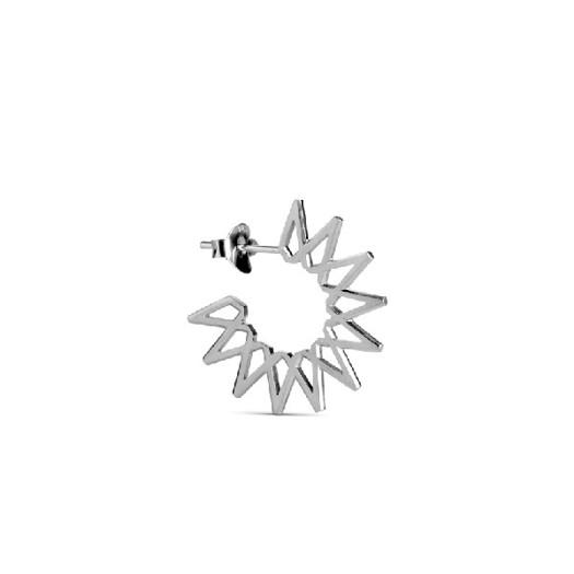 Jane Kønig - Small Sun øreringe i Mat sølv