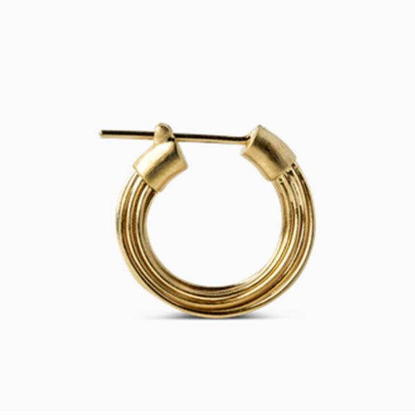 Jane Kønig Small Wire Earring Guld 1 stk.