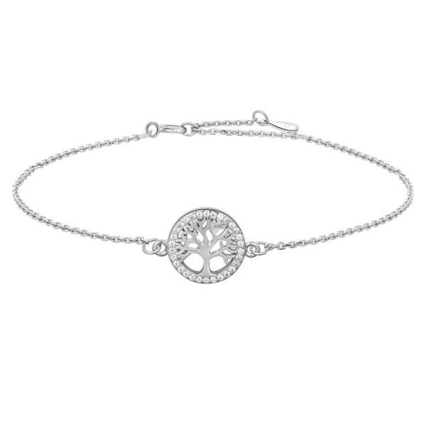 Joanli Caia sølv armbånd med livets træ, 17+3 cm