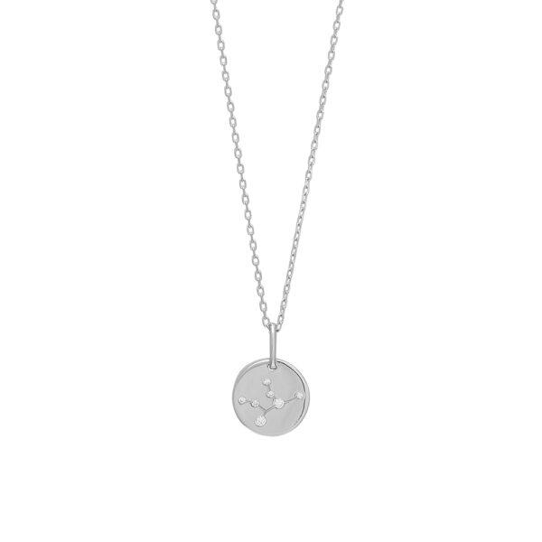 Joanli EstelNor sølv Jomfru stjernetegn halskæde