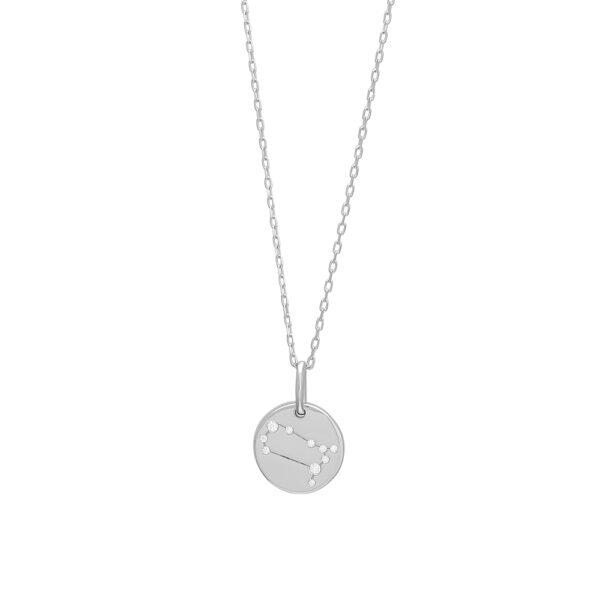 Joanli EstelNor sølv Tvilling stjernetegn halskæde