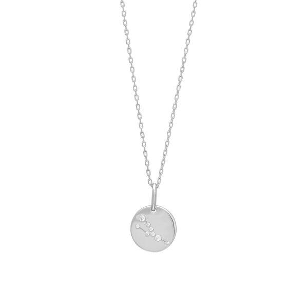 Joanli EstelNor sølv Tyr stjernetegn halskæde