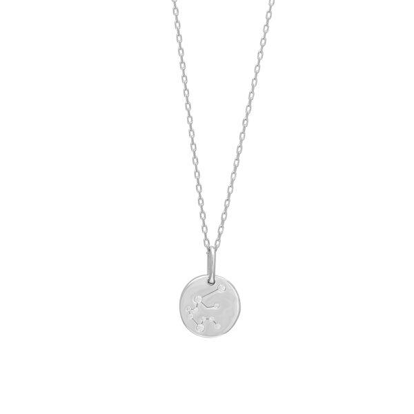 Joanli EstelNor sølv Vandmand stjernetegn halskæde